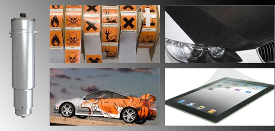 Iecho KCT: herramienta de corte superficial para el corte de vinilo, papel de aluminio, películas, papel fino, cartón y otros materiales finos.