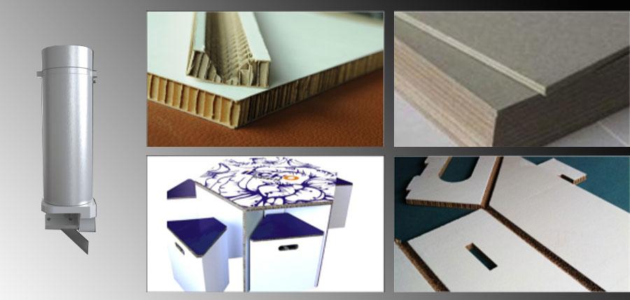 Iecho V-Cut La herramienta de corte en V es ideal para la producción de diseños estructurales complejos a partir de materiales con núcleo de espuma o tipo sándwich. La herramienta se puede configurar para el corte de 5 ángulos diferentes para diferentes necesidades de corte. Los 5 ángulos diferentes son 0º, 15º, 22,5º, 30º, 45º, respectivamente.