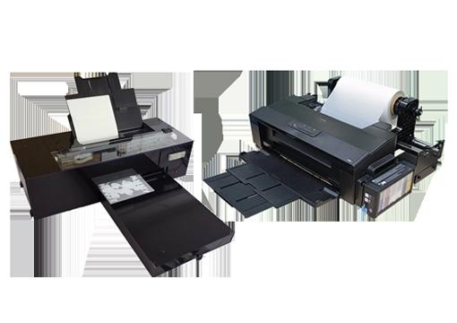 dos modelos de impresoras de sobremesa para imprimir en film
