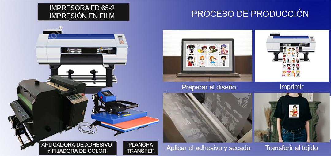 esquema del proceso para la impresión en film